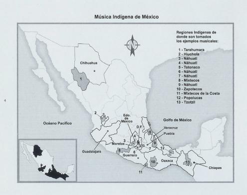 música indígena de méxico (mapa)